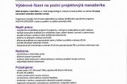 Výběrové řízení na pozici projektový manažer/ka